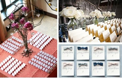 Wedding Escort Card Ideas